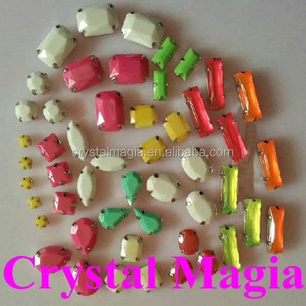 fashion jelly color stone for sewing white strass <strong>crystal</strong> with claw wholesale