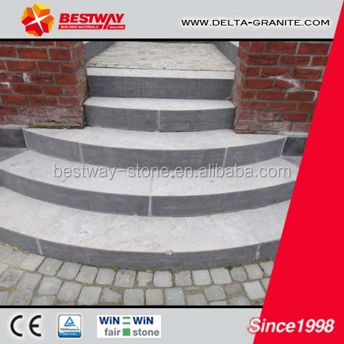 China bluestone exterior stone steps,decorative honed exterior stone steps for sale