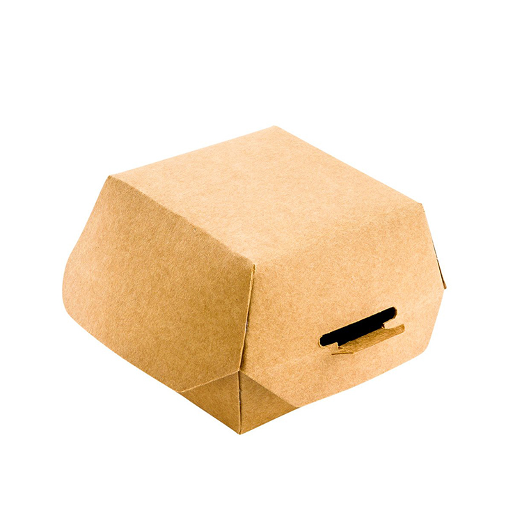 Custom shake shack burger packaging box kraft paper