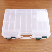 Fishing Lure Box Durable Sided Transparent ABS Fishing Tackle Boxes Fishing Lure Storage Case Big Capacity 29 * 19 * 6cm