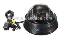 Indoor black dome network wireless IR IP camera
