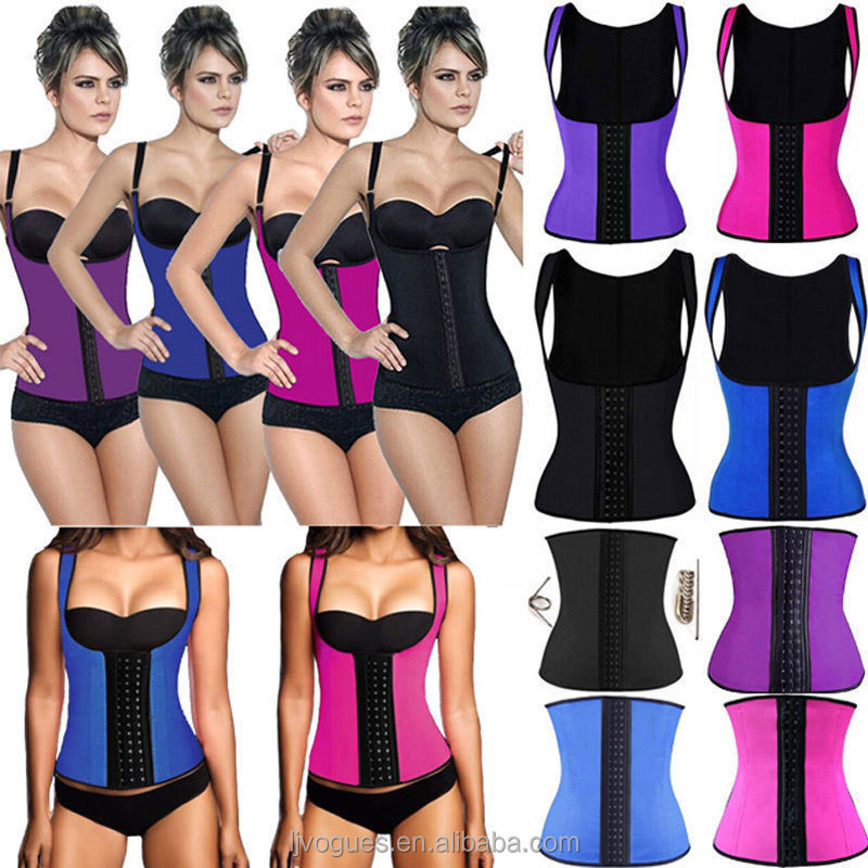 Rubber Latex Waist Training Cincher Underbust Corset Body Shaper Shapewear Vest