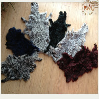 Various Colors Curly Sheep Lamb Skin Pelt For Garments Collars