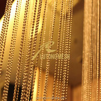 Gold decorative beaded curtain,metal ball chains for free sample