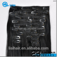 100% Remy Human Hair Cuticles Correct Very Thick Unprocessed claw clip hair ponytail