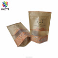 Front Window Kraft Paper Traditional Sweet Food Packaging Bag Doypack