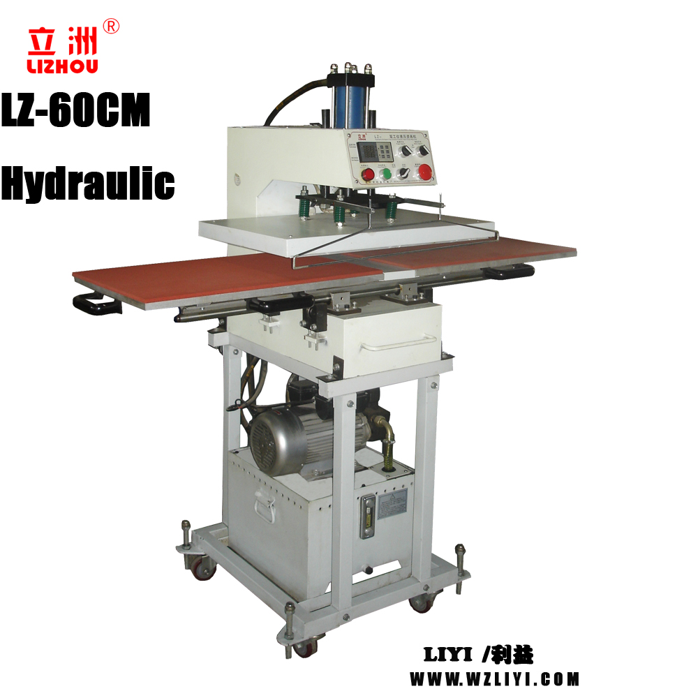 LZ-40CM Hydraulic Airopera Ted Double Iocation Pattern Branding Heat Press Machine double sided heat press machine induction