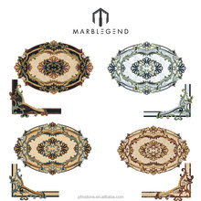 Luxury Venetian Oval water jet marble medallion pattern flooring