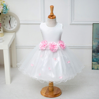 2016 white flower girl dress, flower girl dresses for 7 year olds, lovely satin flower girl dress for wedding