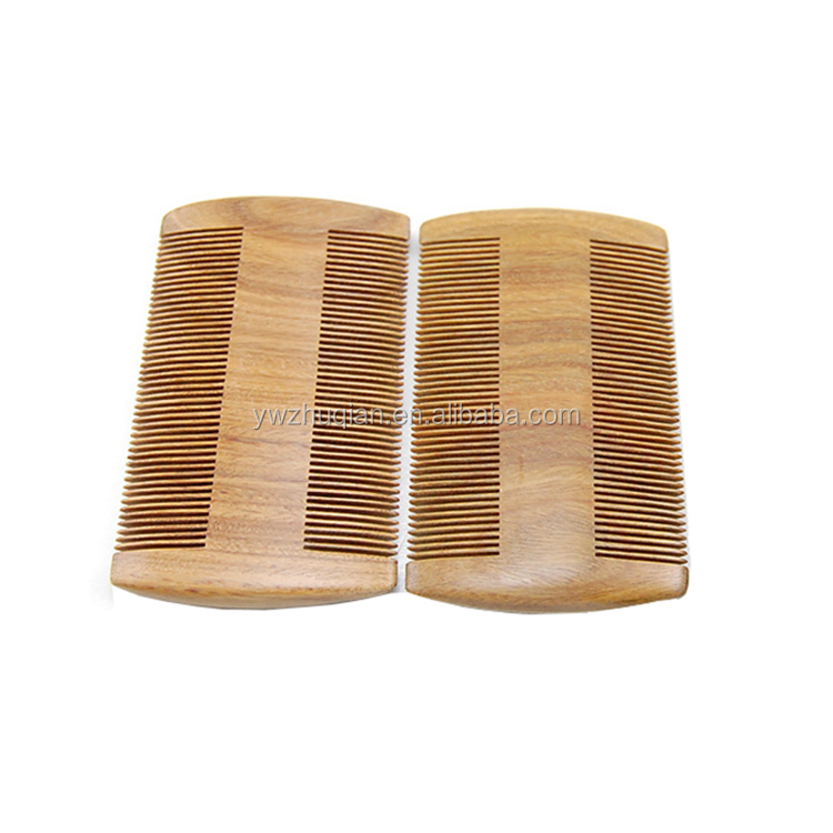 Top grade double tooth sandalwood barber comb