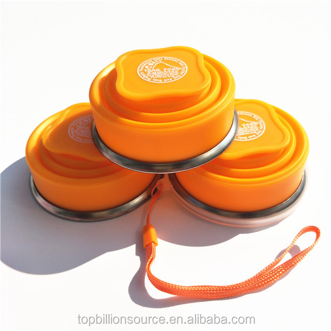 $1 safe collapsible travel camping folding silicone drinking mug