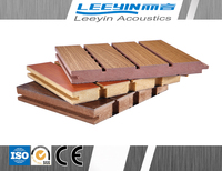 fire proofing Wooden Grooved Acoustic Panel noise barrier for airport/ office/ gym