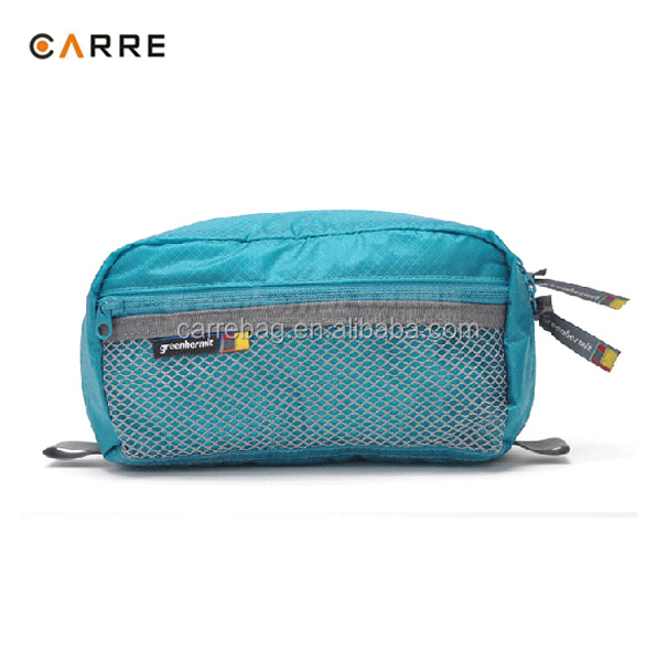custom waterproof cordura 30D ultralight travel toiletry pouch