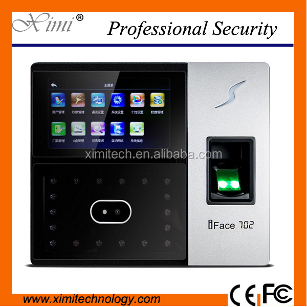 Time attendance system with face recognition and fingerprint T9 input Two USB-Host and Optical sensor