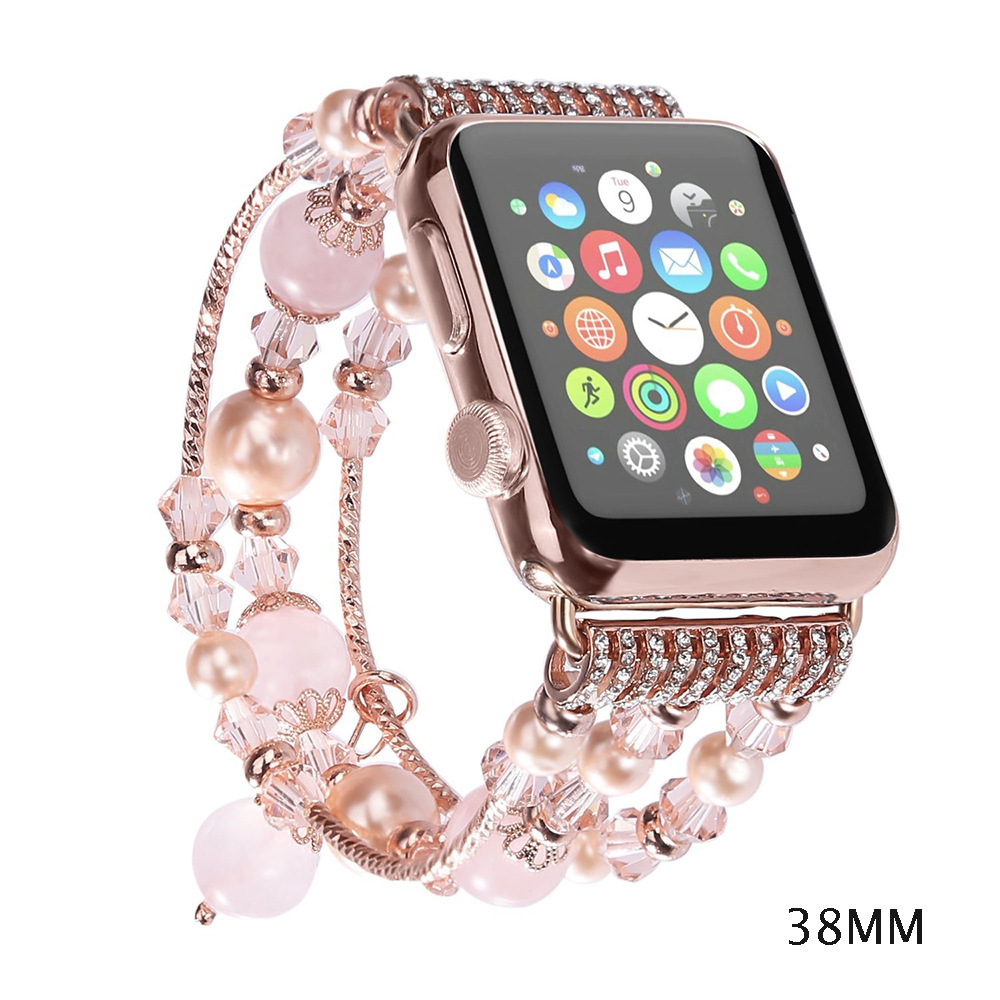 Beaded women Jewelry Watchband Bracelet Band Replacement for Apple Watch 38/42mm for iwatch series1 series2