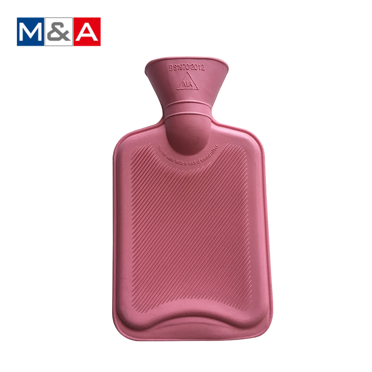 Traditional plastic 1 liter rubber hot water bottle