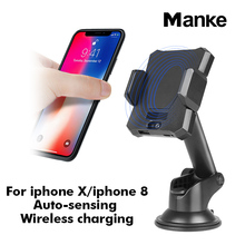 2018 New arrival!Word debut car phone holder with wireless charging function/Auto-sensing car holder/magnetic car mount holder