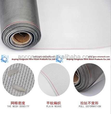 fire resistance stainless steel windows netting/stainless steel window mesh/Mosquito nets for windows