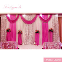 latest design and white pipe and drape wedding backdrop for sale