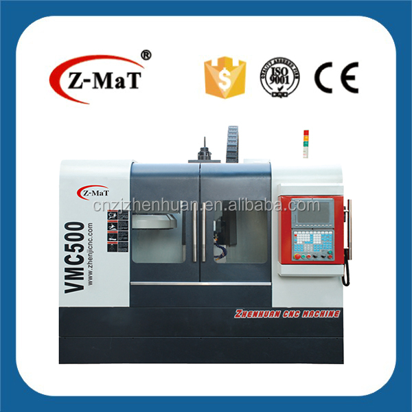 VMC500 Full enclosed guard cover high precision high speed 4 axis auto turning cnc milling machine