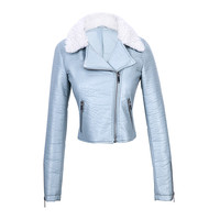 Good selling cheap pu leather jacket made in china