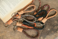 Leather Braided Keychain, Strap , Keyring