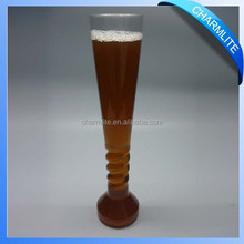 Reusable decorative plastic glasses drinking straw