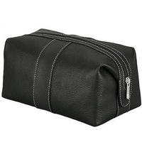 Men Leather Toiletry Toilet Makeup Wash Cosmetic Bag