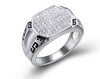 925 sterling silver handmade micro pave setting wedding ring men