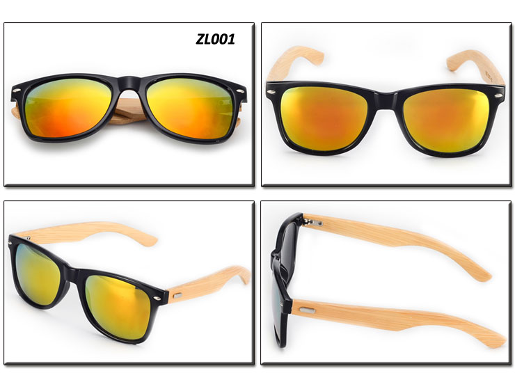wholesale zl001 wooden eyewear custom logo fashion bamboo