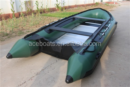 PVC Hull Material and CE Certification Commercial Rubber Inflatable Boat the boat PVC ASA-460 army green for sale!!!