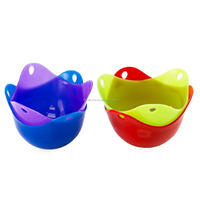 Silicone Egg Poaching Cups-Silicone Egg Poacher Cookware Cups in Vivid Colors