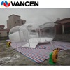 2017 hot sale high quality continous blow type rapid deployment 1mm PVC facet inflatable lawn bubble tent with blower for sale