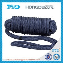 Dark Color 8 strand PP marine towing rope for sailing boat