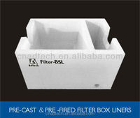 Molten aluminum flow casting filter Box with high density high strength