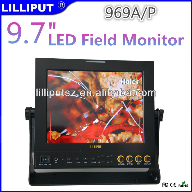 High resolution IPS Dual HDMI Audio Camera Monitor With Peaking Filter Lilliput 969A / P