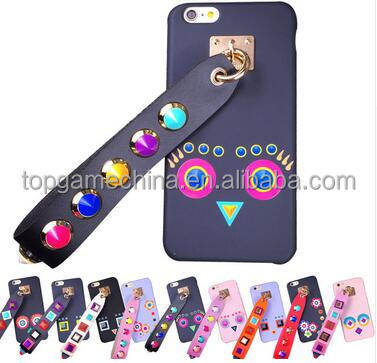 New 3d silicon rivet mobile cell phone case cover For iphone 7 7 plus fend case