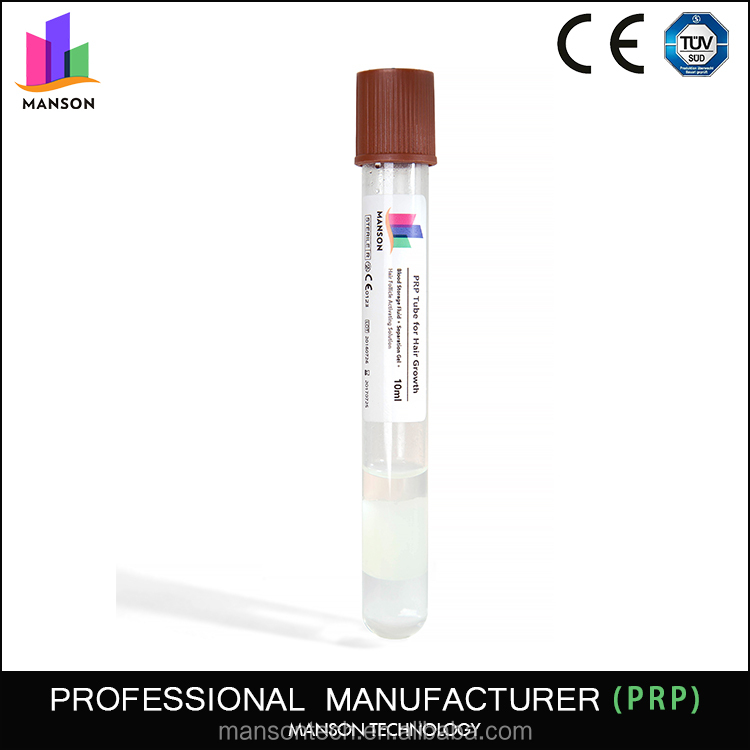 Best quality prp tubes PRP injection and therapy hair prp tube
