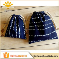 Drawstring customized foldable gift cotton fabric sling bag