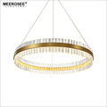 MEEROSEE LED Pendant Light Crystal Hanging Lamp for Dinning room Creative Circle Lamparas Lustres Home Lighting MD85509