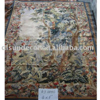 wool or silk handwoven french aubusson tapestry