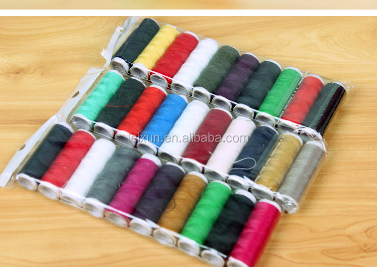 dyed spun polyester sewing thread