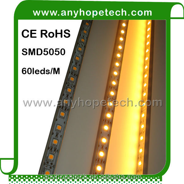 SMD5050 warm white/cool white/RGB 60leds/meter 14.4w/eter aurora led light bar