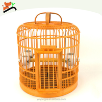 Factory Direct Pet Cage 36cm Large Bird Cages Handmade Bamboo Cage For Birds Wholesale