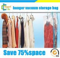 70*105 PA+PE clear vacuum compress compressor storage hanging bags for clothes quilt