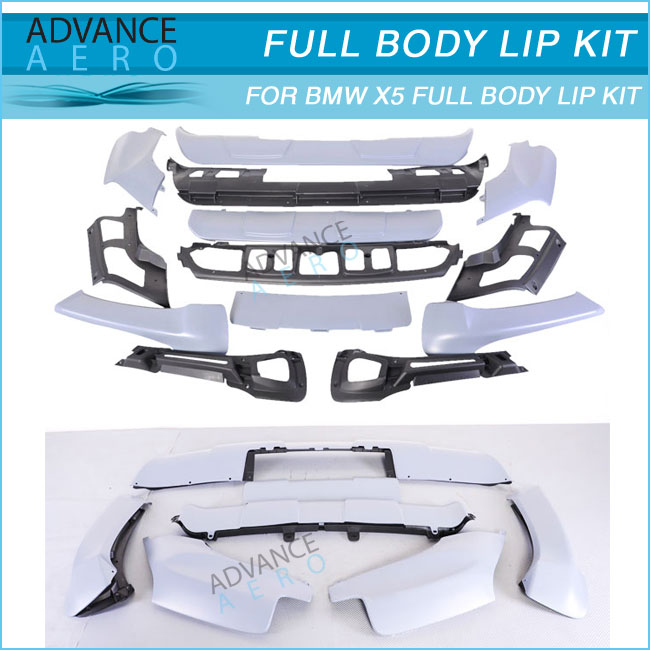 FOR 2007 2008 2009 2010 BMW X5 E70 POLYPROPYLENE FRONT & REAR AERODYNAMIC AUTO PARTS BODYKIT ACCESSORIES 13PCS