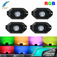 jeep wrangler accessories IP 68 IP 68 RGB led rock light