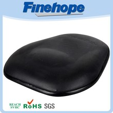 Fitness equipment backrest hard cushion