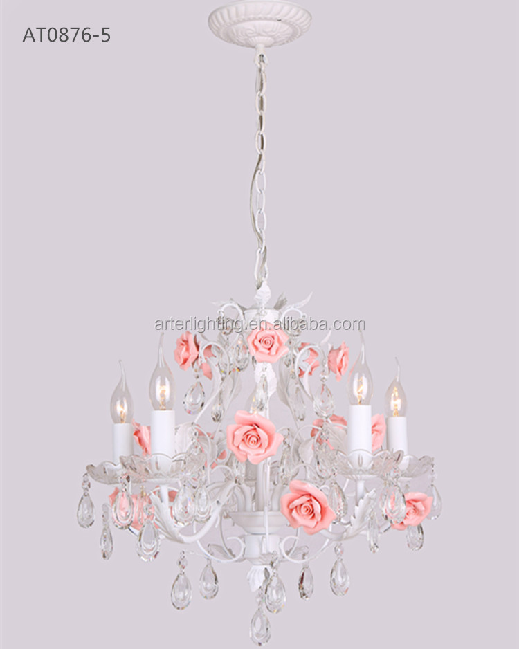 alibaba.com hot selling ceramic rose flower chandeliers in russian market