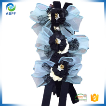hand made cute colorful flower by mesh and satin for children